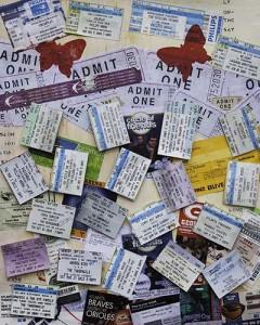 Mallory's ticket stubs ©Vickie Martin