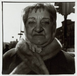 Woman with a Fur Collar on the Street by Diane Arbus 1923-1971