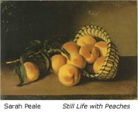 Still Life With Peaches by Sarah Peele 1800-1885